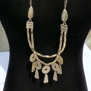 Chicos Boho Goldtone Statement Egyptian Necklace